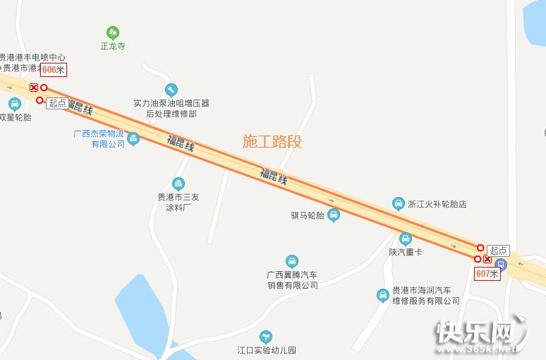 贵港城区基础设施施工,这些改造路段注意绕行